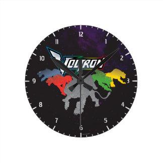 Voltron |のライオン充満 ラウンド壁時計