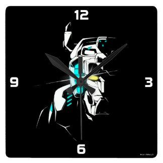 Voltron |の光る目のシルエット スクエア壁時計