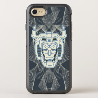 Voltron | Voltronのヘッド青および白い輪郭 オッターボックスシンメトリーiPhone 8/7 ケース