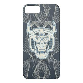 Voltron   Voltronのヘッド青および白い輪郭 iPhone 8/7ケース