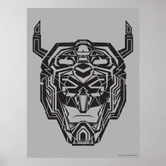 Voltron | Voltronの頭部によって折られる輪郭 ポスター