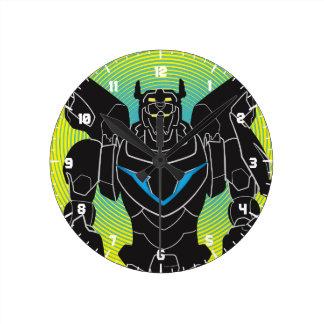 Voltron | Voltronの黒いシルエット ラウンド壁時計