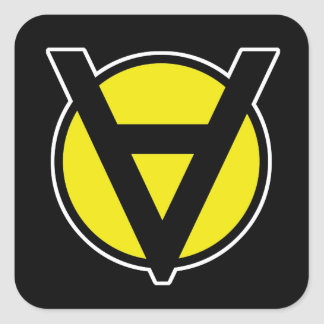 Voluntaryismの正方形のステッカー-無秩序の黄色 スクエアシール