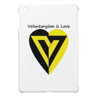 Voluntaryismは愛-光沢のあるiPadの小型場合です iPad Miniケース