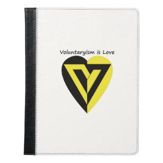 voluntaryismは愛- iPadのフォリオです iPadケース