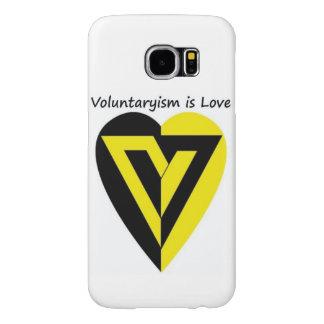 voluntaryismは愛- Samsungの銀河系s6の箱です Samsung Galaxy S6 ケース