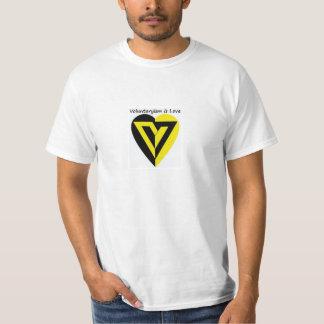 Voluntaryismは愛- Tシャツです Tシャツ