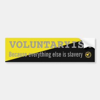 Voluntaryismステッカー バンパーステッカー