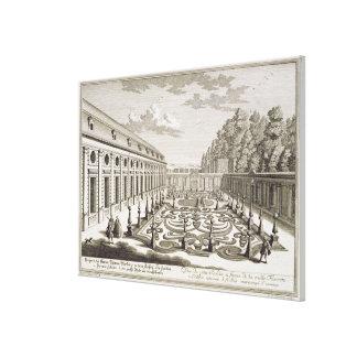 「Vorstelからのウィーンの近くの花園の眺め、 キャンバスプリント
