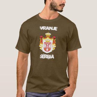 Vranje、紋章付き外衣が付いているセルビア Tシャツ