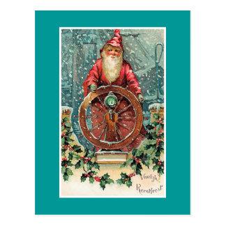 Vroolijk Kerstfeestのヴィンテージのオランダのクリスマスカード ポストカード