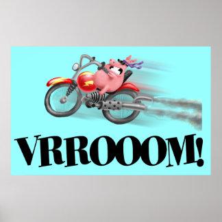VRRROOOMのブタ ポスター