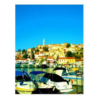 vrsar休日の楽園の夏のistriaクロアチア 葉書き