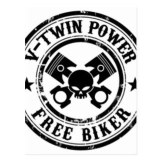 VTWIN力はバイクもしくは自転車に乗る人を放します ポストカード