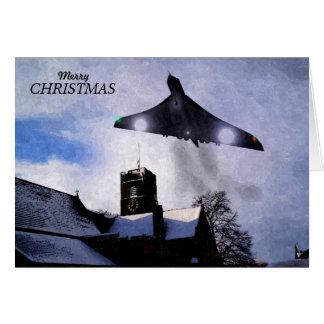 Vulcanの爆撃機のクリスマスカード カード