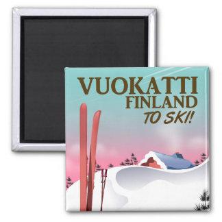 Vuokattiフィンランドのスキーポスター マグネット