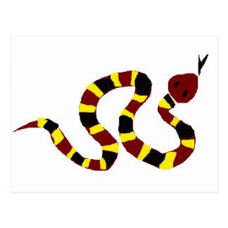 VW-カラフルなヘビの原住民の芸術 ポストカード