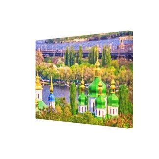 Vydubitsky修道院。 キエフ、ウクライナ キャンバスプリント
