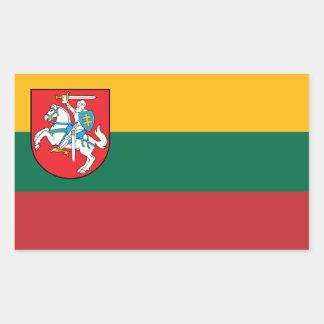 Vytisのリスアニアの旗 長方形シール