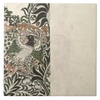 wのための未完成の「鳥およびつる植物」の版れんがのデザイン タイル