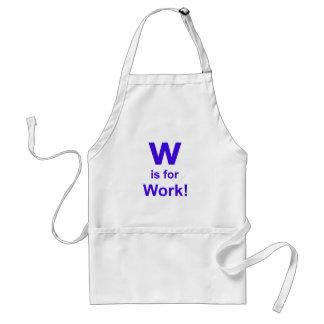 Wは仕事のためです スタンダードエプロン