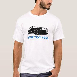 W124黒 + あなたの文字 Tシャツ