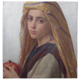 W.A. Bouguereau著ザクロを持つ女の子 ナプキンクロス