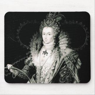 W.Derbyによって描かれ、刻まれるエリザベス女王一世 マウスパッド