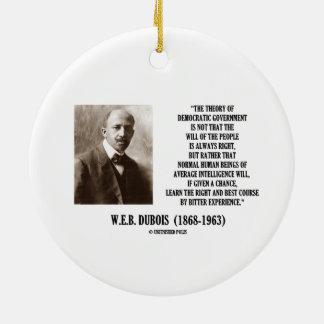 W.E.B. 民主政治のDubois理論 セラミックオーナメント
