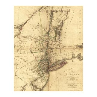 W. Faden (1776年)著ニューヨークの地域の地図 キャンバスプリント