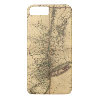 W. Faden (1776年)著ニューヨークの地域の地図 iPhone 8 Plus/7 Plusケース