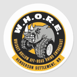 W.H.O.R.E. ステッカー