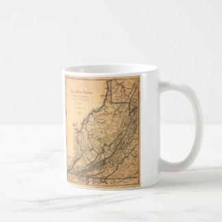 W.L. Nicholson (1862年)著西部のヴァージニアの地図 コーヒーマグカップ