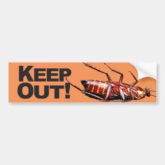 w/Roach -バンパーステッカー--を保って下さい バンパーステッカー