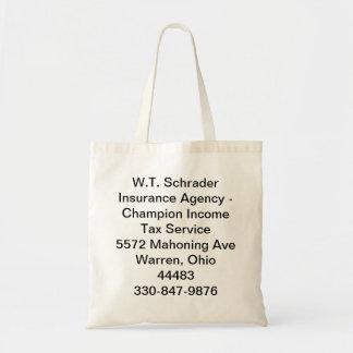 W.T. Schraderの保険代理店 トートバッグ