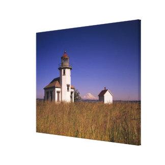 WAのMauryの島、ポイントロビンソンの灯台、 キャンバスプリント