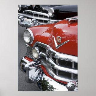 WA、シアトルのクラシックなアメリカの自動車 ポスター
