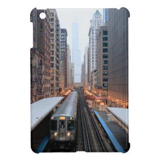 Wabash上の都心のシカゴの高い柵 iPad Miniケース