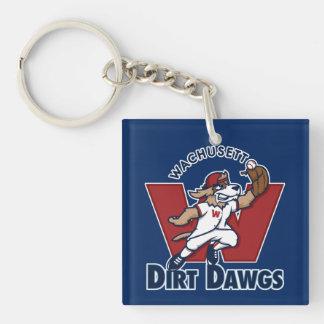 Wachusettの土のDawgsの大学の野球チームのロゴ キーホルダー