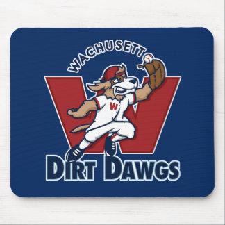 Wachusettの土のDawgsの大学の野球チームのロゴ マウスパッド