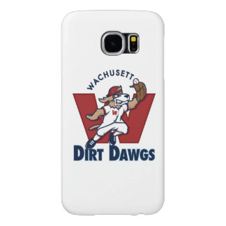 Wachusettの土のDawgsの大学の野球チームのロゴ Samsung Galaxy S6 ケース