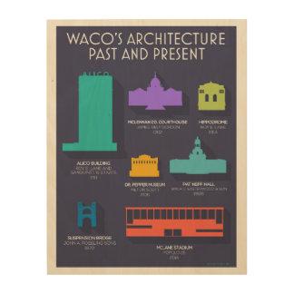 Wacoの建築の木製のプリント ウッドウォールアート