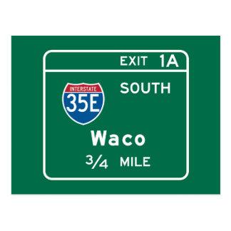 WacoのTXの交通標識 ポストカード