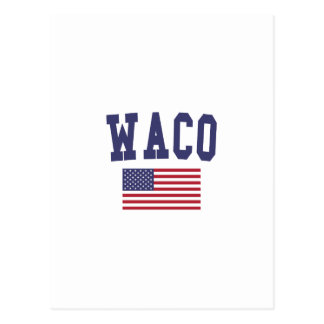 Waco米国の旗 ポストカード