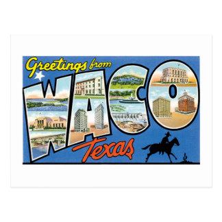 Waco、テキサス州からの挨拶 ポストカード