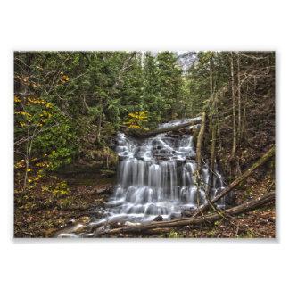 Wagnerの滝、ミシガン州 フォトプリント
