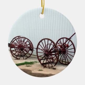 Wagon Wheels セラミックオーナメント