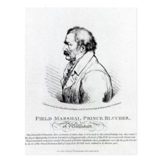 WahlstadtのBlucher陸軍元帥の王子 ポストカード