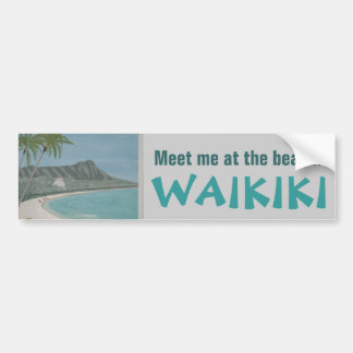 WAIKIKIのバンパーステッカー バンパーステッカー