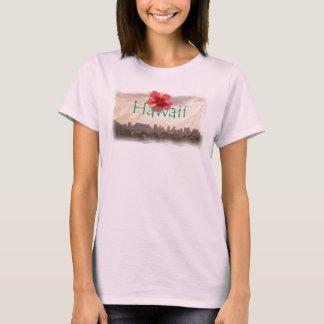 Waikikiのビーチのハワイのワイシャツ Tシャツ